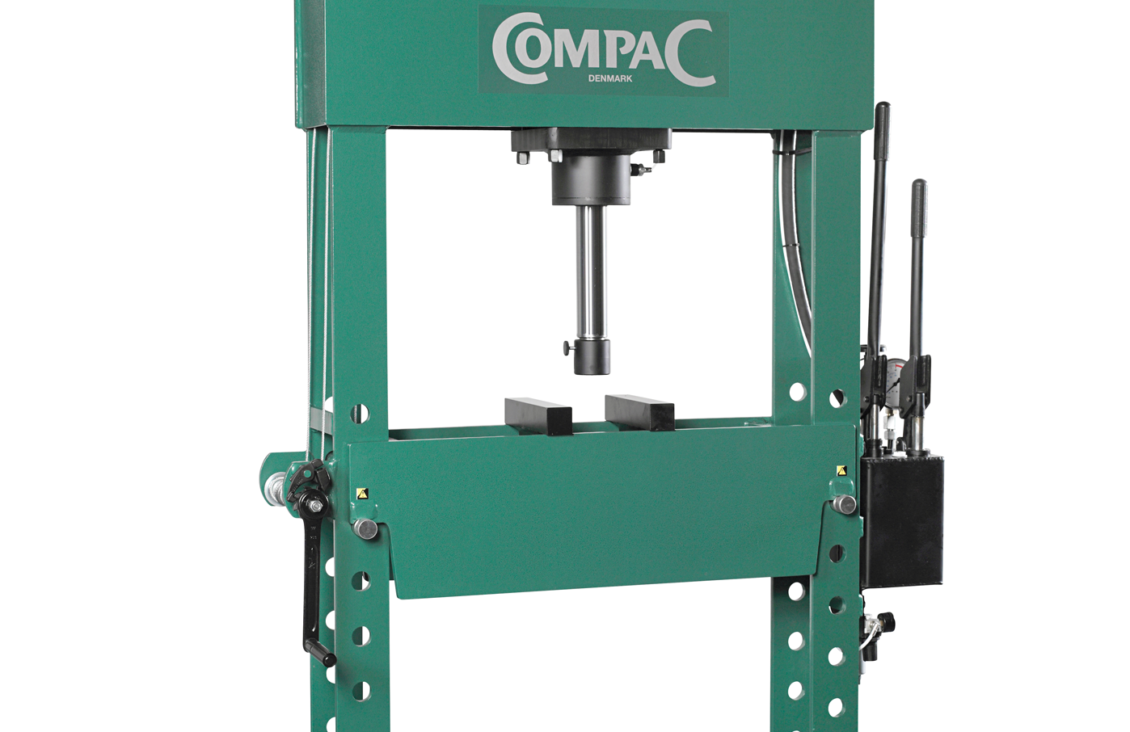 Compac HP50 Hand Operated 50 Tonne H Frame Hydraulic Workshop Press ...