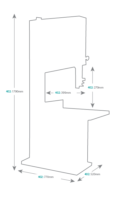 ACM 402 Education Bandsaw Dimensions