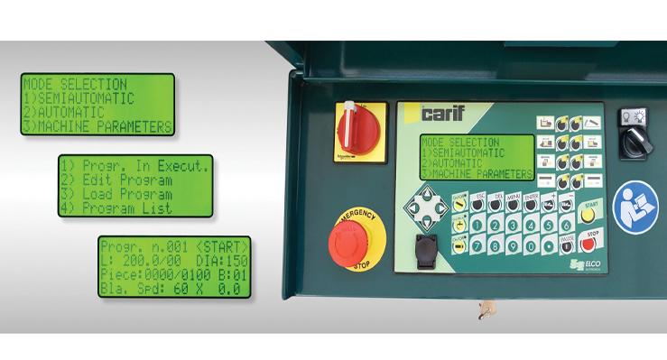 CNC Bandsaw control